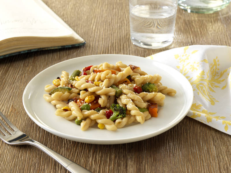 Ready Pasta Gemelli with Sauteed Mixed Vegetables