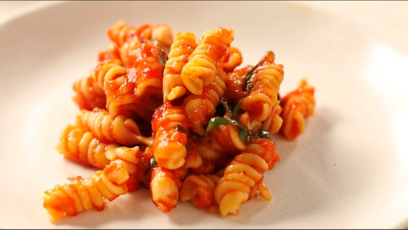 Ready Pasta Rotini recipe with tomato and basil