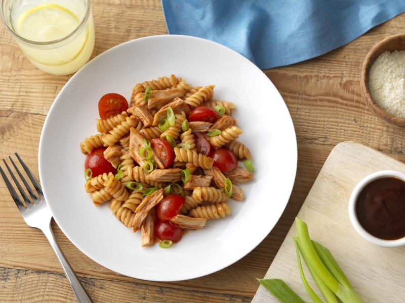 Ready Pasta Rotini recipe with BBQ chicken