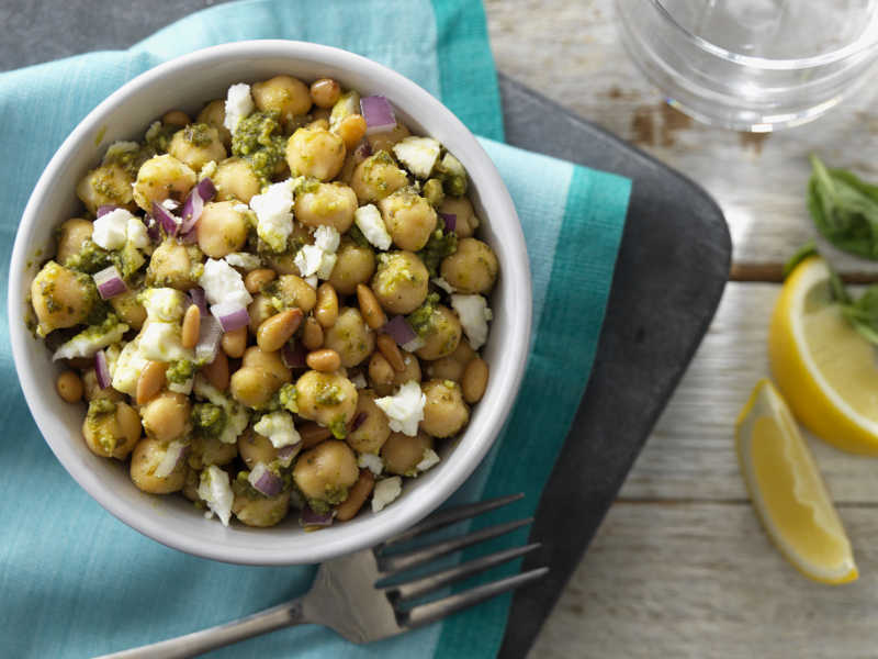 Barilla Basil Pesto Chickpea Salad recipe