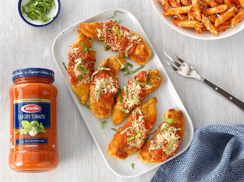 Barilla Chicken Parmesan Recipe with Barilla Savory Tomato Pasta Sauce
