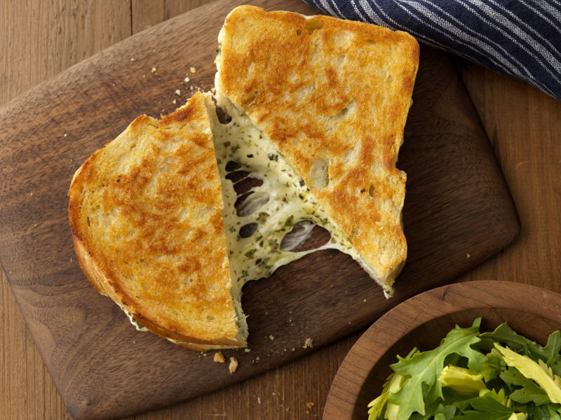 Barilla Pesto Grilled Cheese recipe