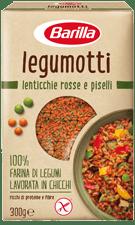 Legumotti lenticchie rosse e piselli