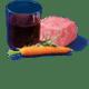 carne selezionata da filiera controllata pomodori italiani vino rosso