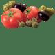 pomodoro italiano capperi sotto sale olive nere verdi peperoncino