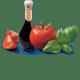 Tomatoes Basil Grana Padano Balsamic Vinegar