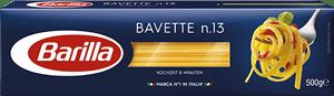 Klasične testenine, špageti Bavette n.13 Barilla v embalaži. Najboljša izbira.