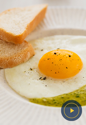 Jaje na oko s umakom Pesto Genovese Barilla