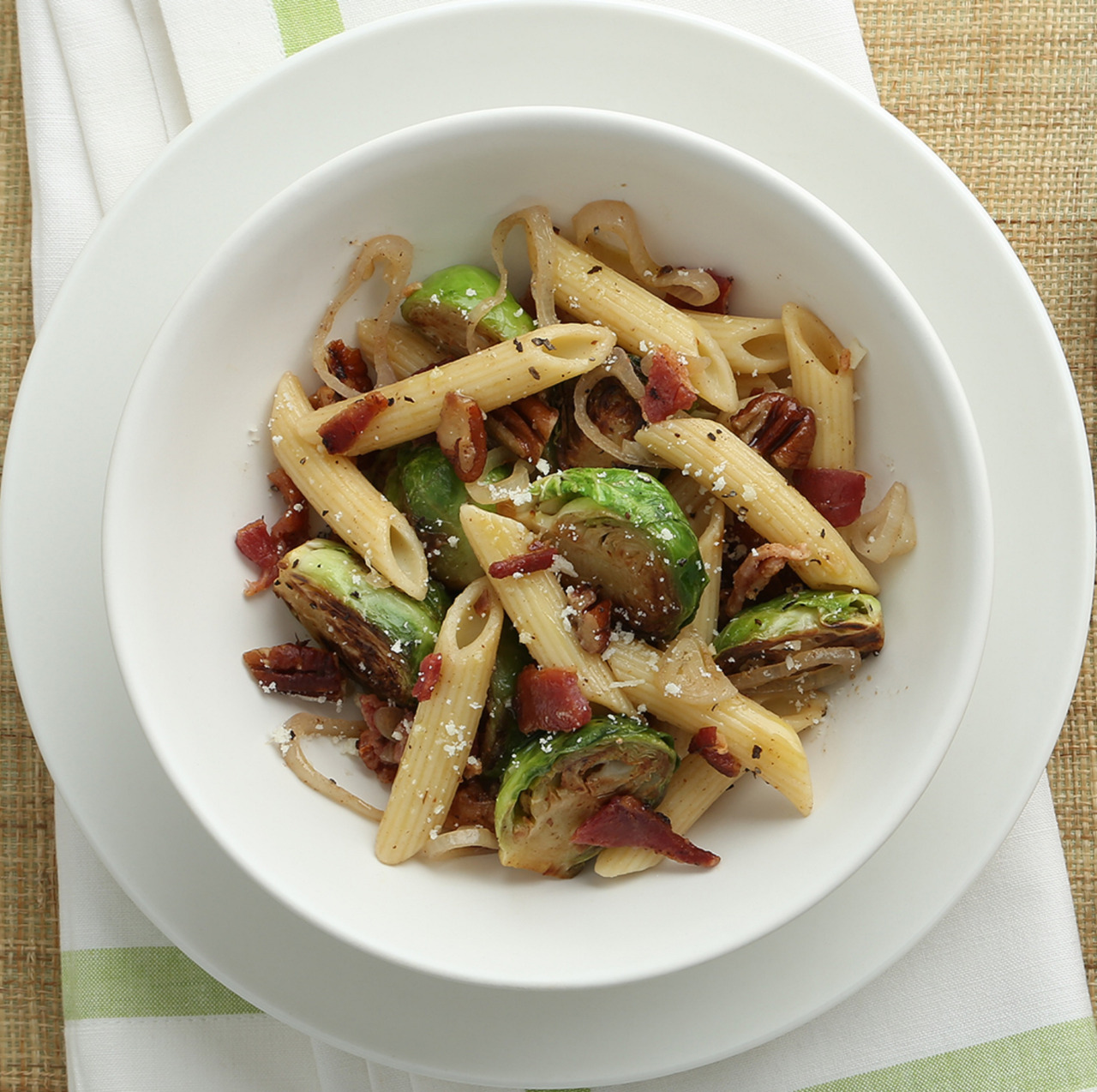 Bacon and Roasted Brussels Sprouts Penne Recipe