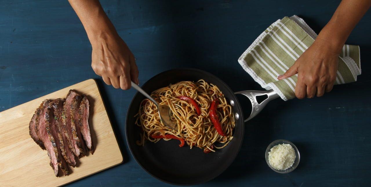 Flank Steak & Chimichurri Spaghetti