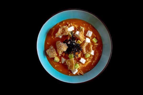 Fusion Tortilla Soup Recipe with Fideo Cut Spaghetti