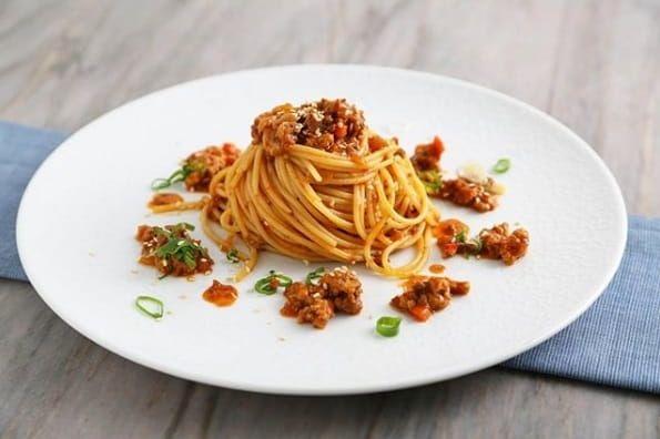 Korean-style Barilla ProteinPLUS Pasta Spaghetti Bolognese Recipe