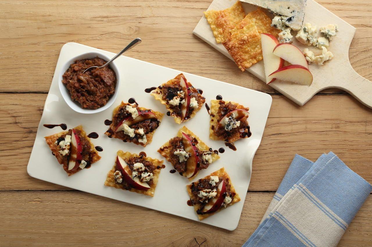 Lasagna Crisps with Bacon Jam Recipe