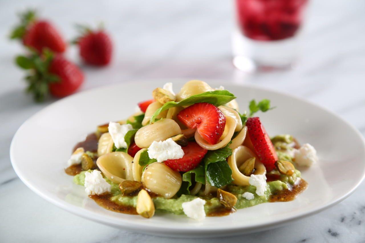 Orecchiette Pasta Salad with Strawberries Recipe
