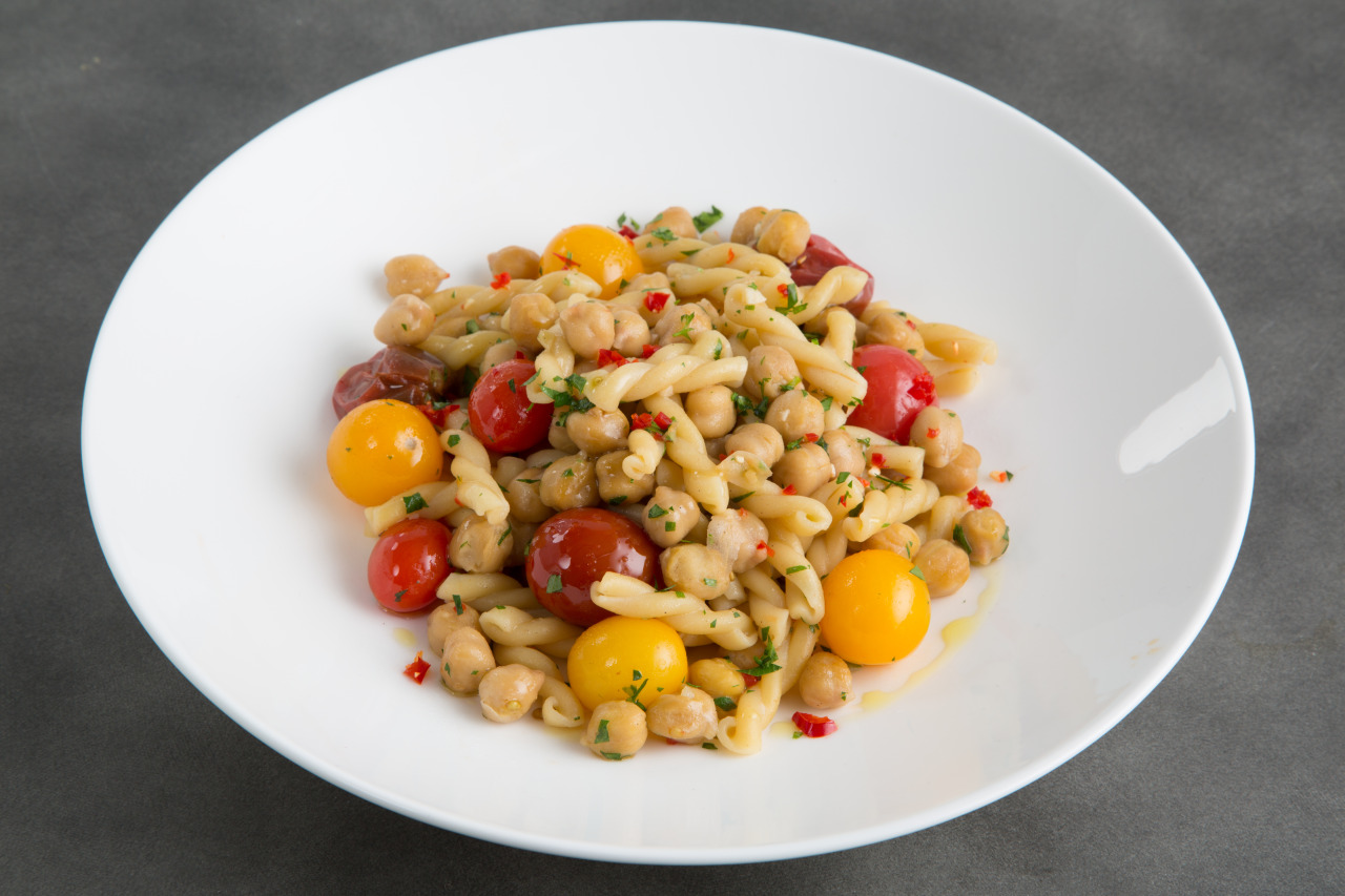 Gemelli with Spicy Chickpeas, Rosemary and Fresh Cherry Tomatoes