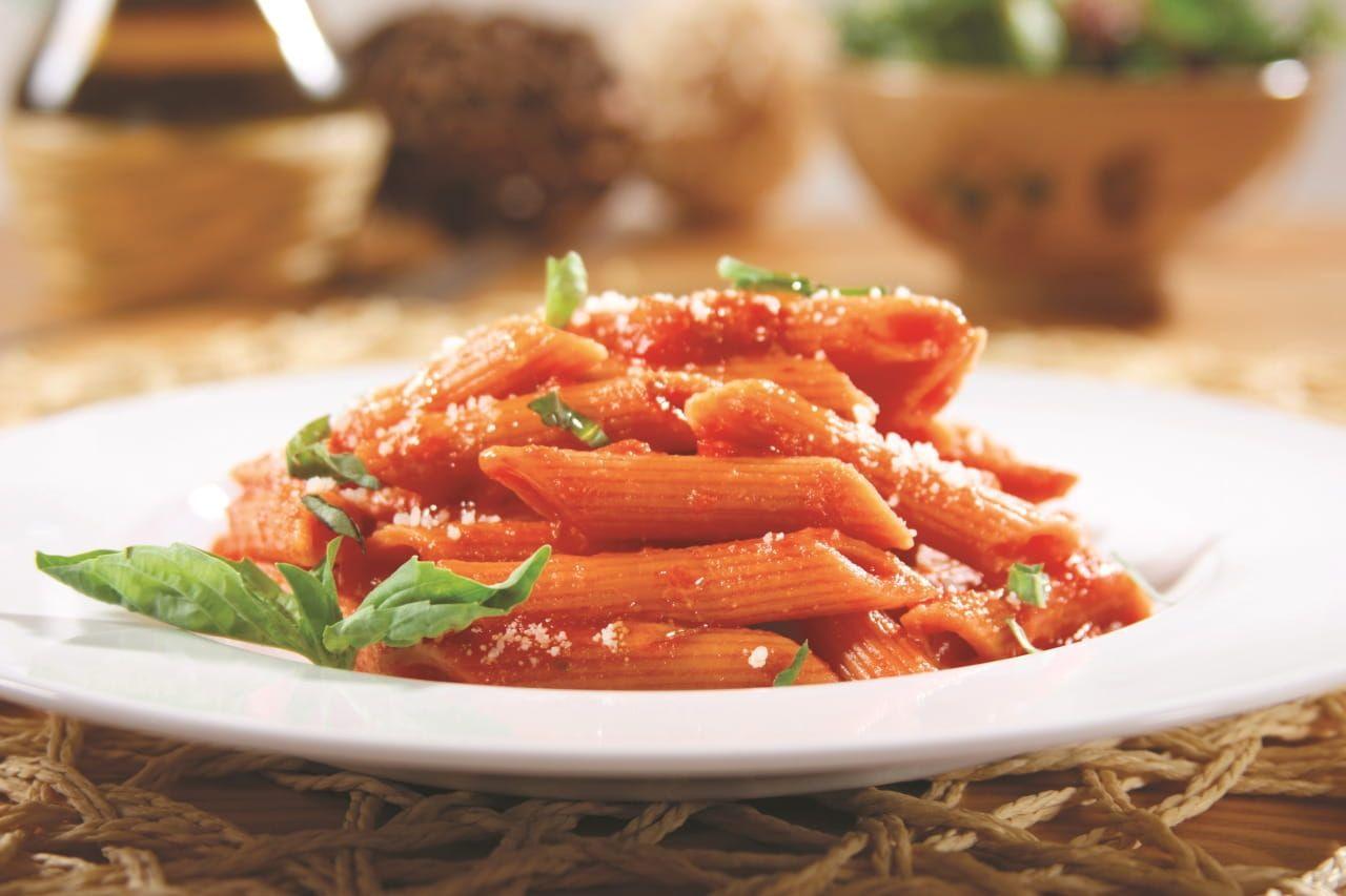 Veggie Penne with Tomato-Basil Sauce