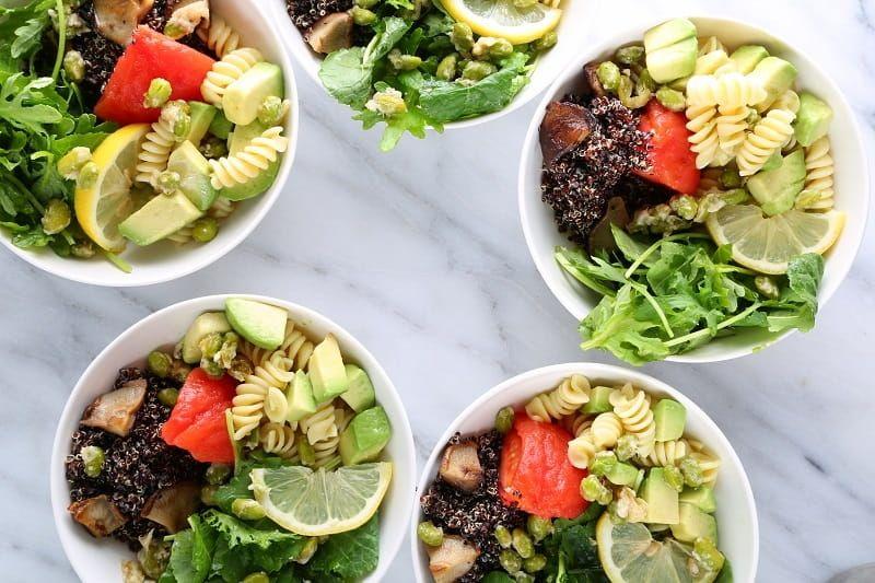 Vegan Bowl with Rotini Pasta Recipe