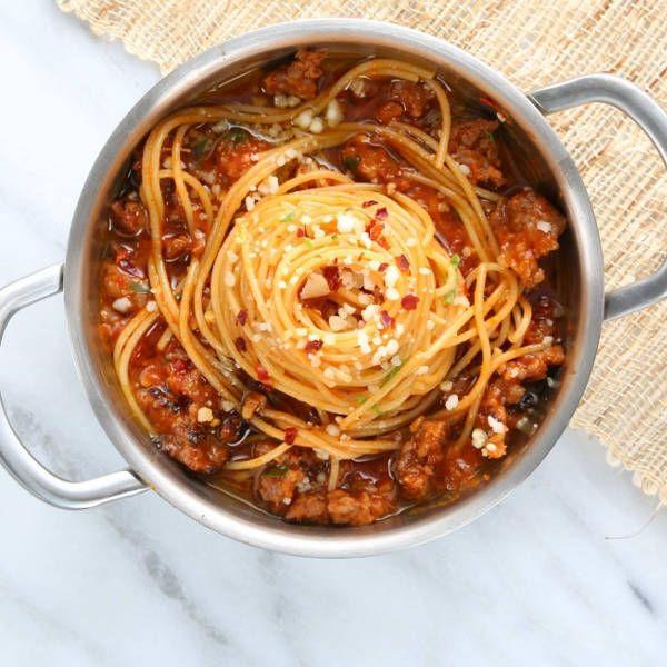 Spaghetti with Spicy Italian Sausage Recipe