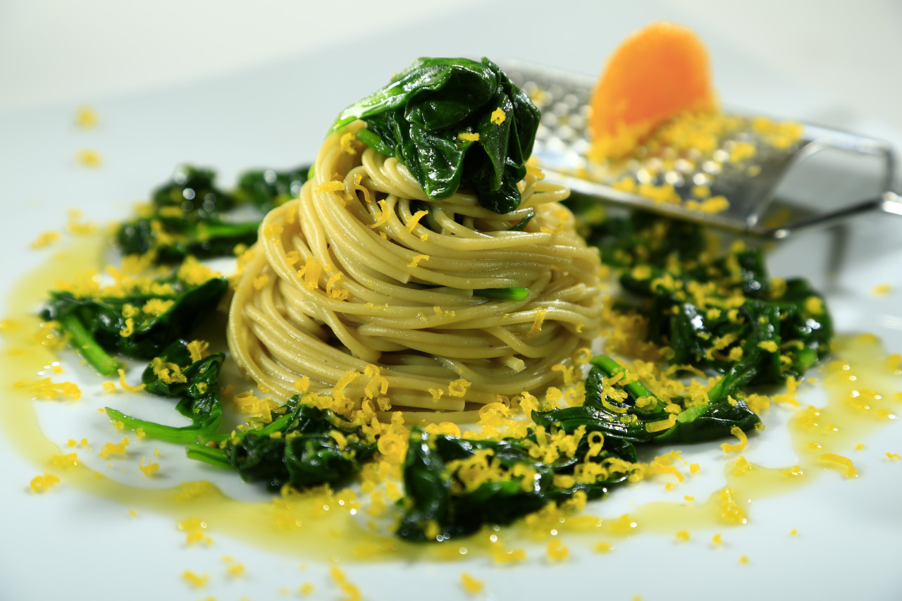 Spaghetti with Baby Spinach and Cured Egg Yolk