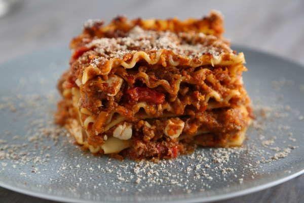 Vegetarian Lasagna Recipe with Tofu-Mushroom Vegan Bolognese