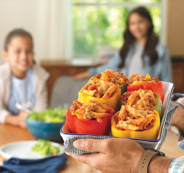 Better Together: Barilla Pasta & Sauce Stuffed Peppers Recipe