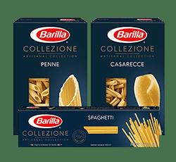 Barilla Collezione pasta packages