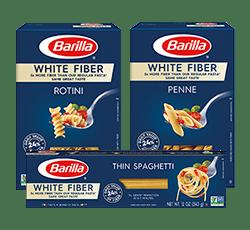 Barilla White Fiber pasta package