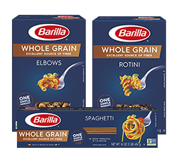 Barilla Whole Grain pasta packages