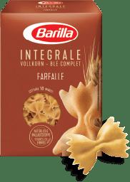 Integralna tjestenina, integralne farfalle u pakiranju. Najbolji izbor.