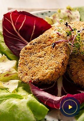 Vegetarijanski burger z genovskim pestom